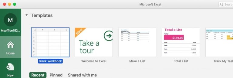 como descargar office excel en mac