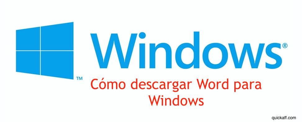 descargar Word para Windows