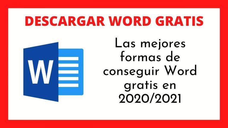 descargar word gratis 2020 2021